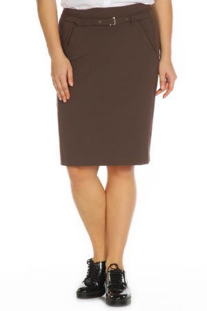 Юбка FOMANTA. Цвет: коричневый