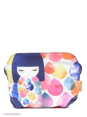 Сумочка на плечо Михоко Kimmidoll. Цвет: синий, розовый, белый