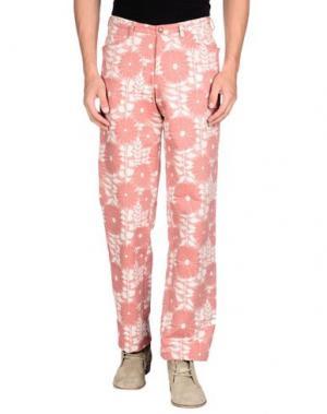 Повседневные брюки AGE. Цвет: пастельно-розовый