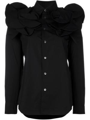Рубашка со структурированными плечами Junya Watanabe Comme Des Garçons. Цвет: чёрный