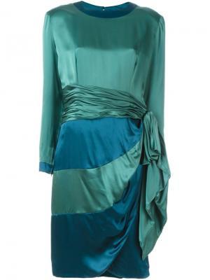 Платье с драпировкой Jean Louis Scherrer Vintage. Цвет: зелёный