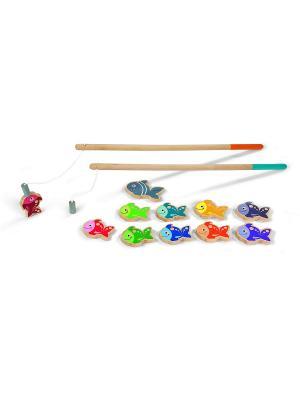 Игра Рыбалка Janod. Цвет: голубой