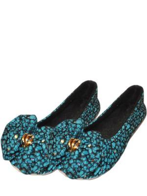 Носки-тапочки HOBBY LINE. Цвет: черный, бирюзовый