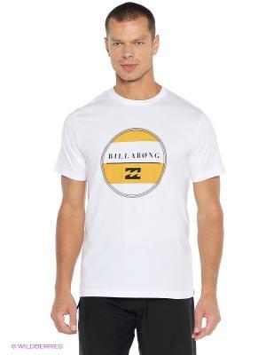 Футболка ILLUSION SS BILLABONG. Цвет: белый, желтый