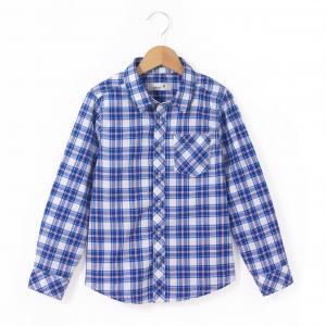 Рубашка в клетку 3-12 лет La Redoute Collections. Цвет: в клетку