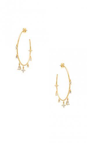Крупные серьги-кольца the scattered gem Luv AJ. Цвет: металлический золотой