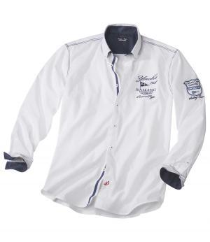 Рубашка из Хлопка AFM. Цвет: белыи