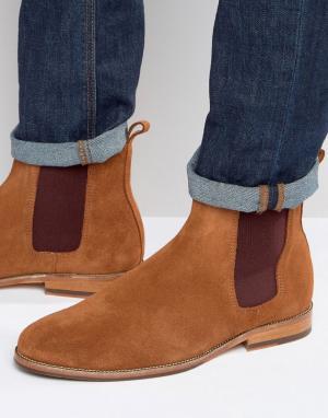 Bobbies Замшевые ботинки челси LHorloger. Цвет: рыжий