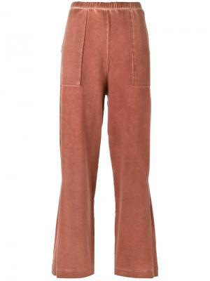 Широкие спортивные брюки Mara Mac. Цвет: розовый и фиолетовый