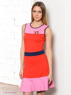 Платье TOM FARR. Цвет: красный, розовый