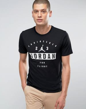 Jordan Черная футболка с принтом Nike 801556-010. Цвет: черный