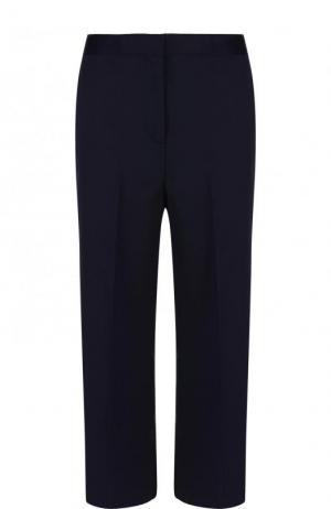 Укороченные расклешенные брюки из шерсти Versace. Цвет: темно-синий