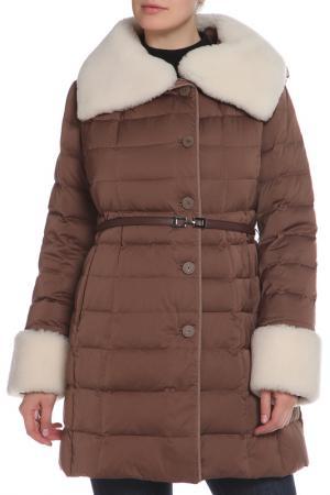 Пальто La Reine Blanche. Цвет: светло-коричневый