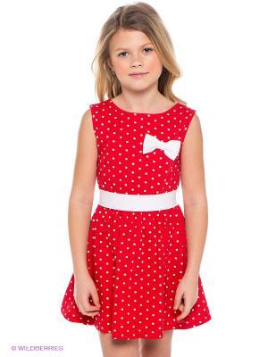 Платье Апрель. Цвет: красный, белый