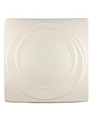 Блюдо квадратное 28х28см. Спирит Quality Ceramic. Цвет: белый