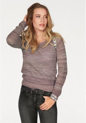 Пуловер AJC. Цвет: бордовый/цвет белой шерсти
