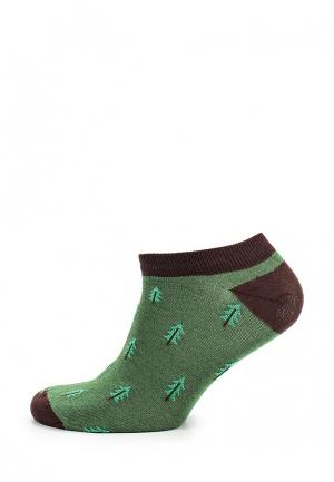 Носки Запорожец Heritage. Цвет: зеленый