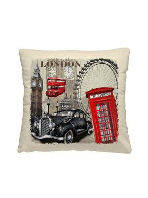 Подушка-думка, Лондон Волшебная ночь. Цвет: бежевый