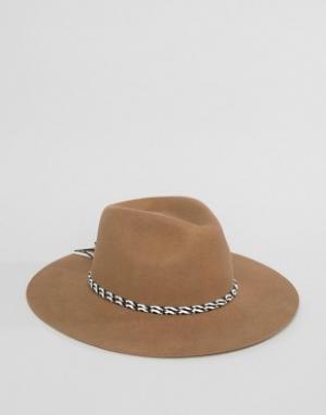 Brixton Фетровая шляпа Midland. Цвет: рыжий