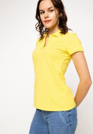 Поло DeFacto. Цвет: желтый