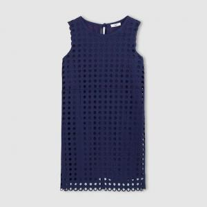 Платье без рукавов SUNCOO. Цвет: темно-синий