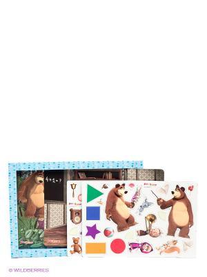 Настольная игра Магнитные истории. Первый раз в класс Маша и медведь. Цвет: голубой, белый, зеленый
