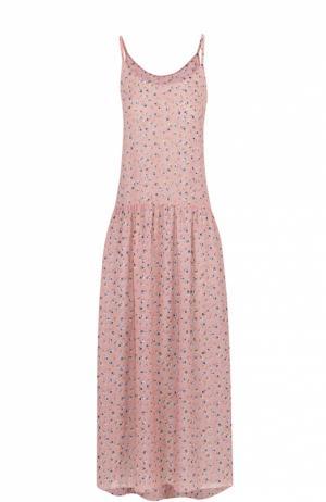 Платье-миди на тонких бретельках с цветочным принтом Poustovit. Цвет: разноцветный
