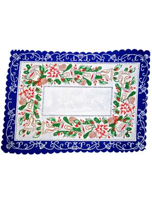 Комплект салфеток Новогодний 30х40 La Pastel. Цвет: синий