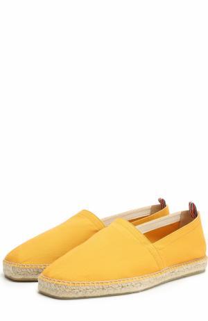 Текстильные эспадрильи на джутовой подошве Castaner. Цвет: желтый