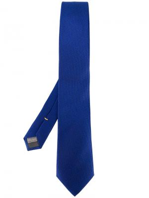 Галстук с вышивкой Canali. Цвет: синий