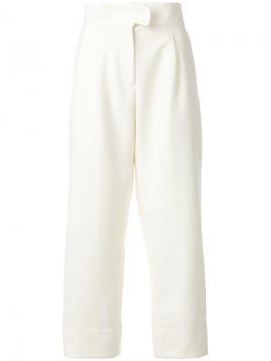 Укороченные брюки Carven. Цвет: телесный