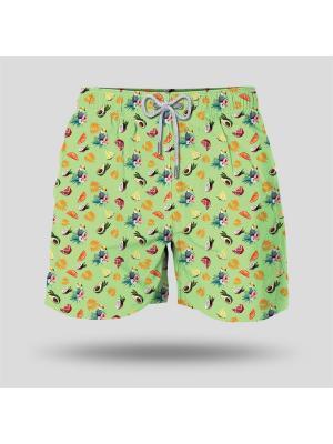 Шорты пляжные мужские JOHN FRANK. Цвет: зеленый