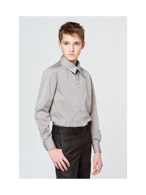 Рубашка MORU. Цвет: зеленый, серый