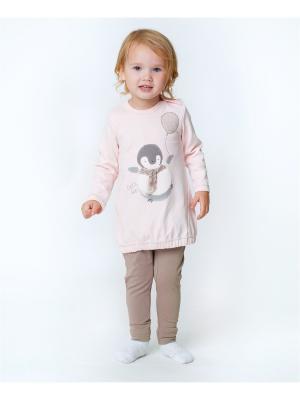 Комплект одежды VATAGA. Цвет: бежевый, бледно-розовый