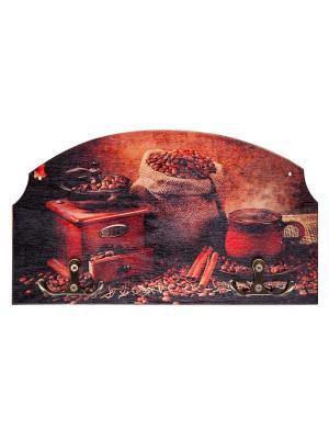 Вешалка-ключница кофе Miolla. Цвет: красный