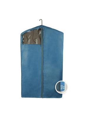 Чехол для верхней одежды Miolla. Цвет: синий