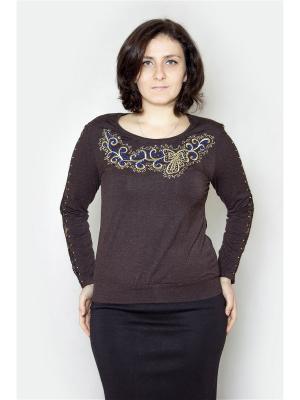 Блузка Vanrica Fashion. Цвет: коричневый