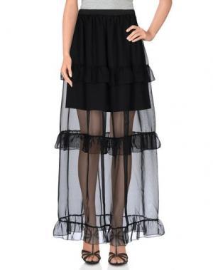 Длинная юбка PINK BOW. Цвет: черный