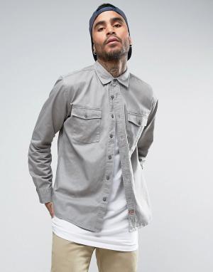Brixton Рубашка классического кроя. Цвет: серый