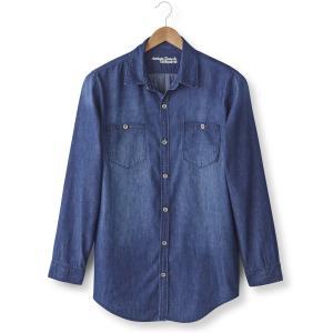 Рубашка джинсовая с длинными рукавами, длина 1 и 2 (до 187 см) TAILLISSIME. Цвет: темно-синий