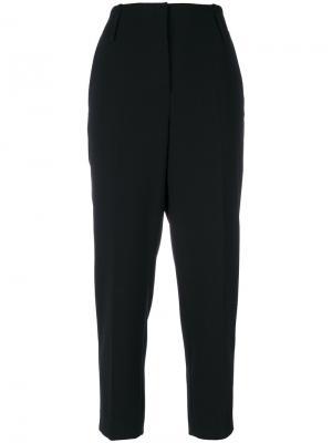 Укороченные брюки с завышенной талией Luisa Cerano. Цвет: чёрный