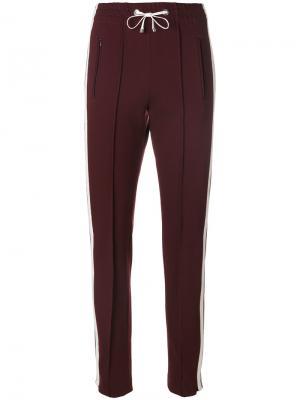 Спортивные брюки с полосками Dondup. Цвет: красный