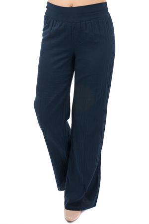 Расклешённые брюки EUROPEAN CULTURE. Цвет: темно-синий