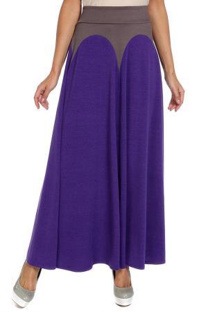 Юбка-макси Арка Alina Assi. Цвет: фиолетовый, серо-бежевый