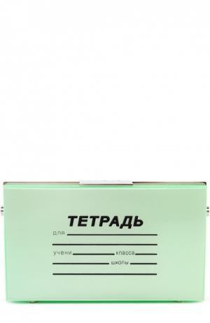 Клатч в виде тетради Eshvi. Цвет: зеленый