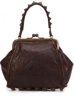 Мини сумка с заклепками Campomaggi. Цвет: коричневый
