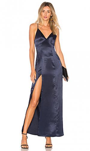 Макси платье bridge Privacy Please. Цвет: синий