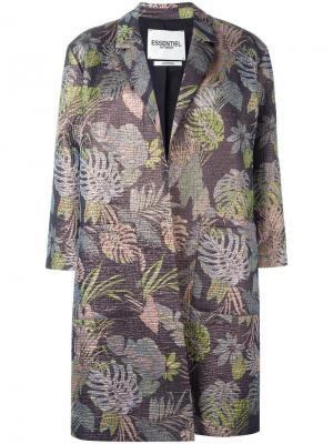 Жаккардовое пальто Essentiel Antwerp. Цвет: многоцветный