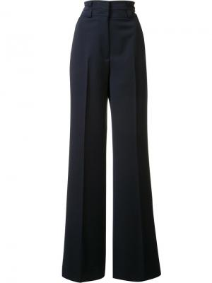 Расклешенные брюки с завышенной талией Gabriela Hearst. Цвет: синий