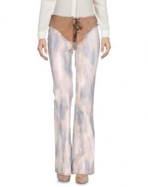 Повседневные брюки ROBERTA SCARPA. Цвет: песочный